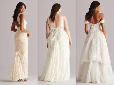 american bustle wedding dress