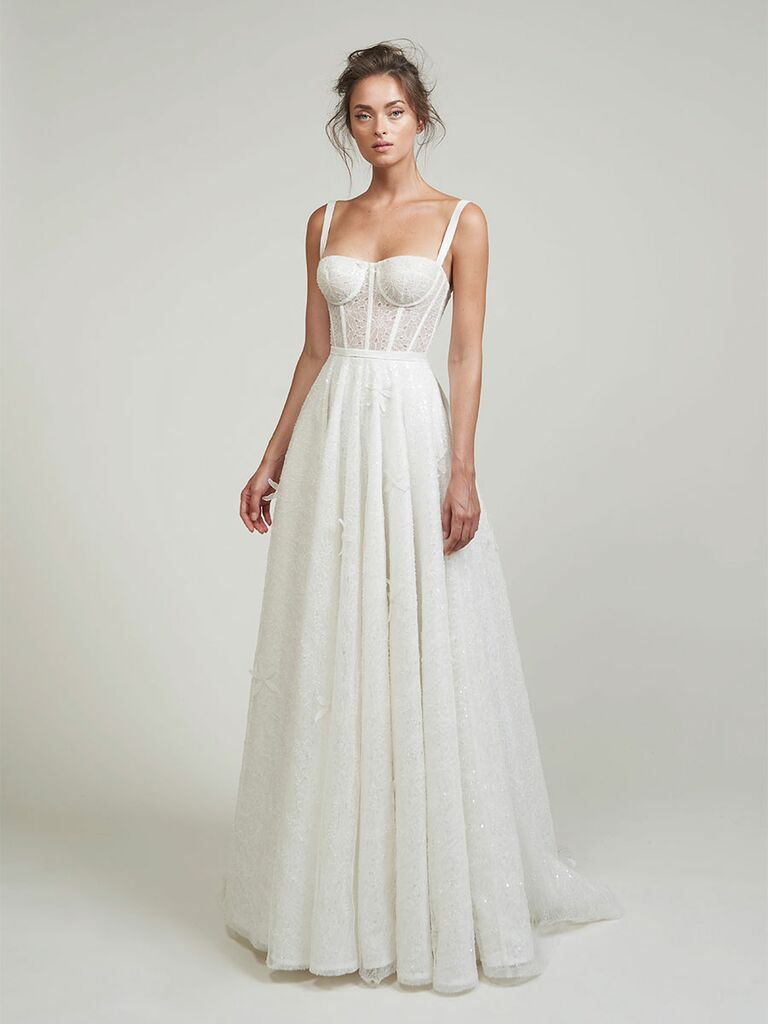 Lihi Hod wedding dress sheer eyelet a-line gown