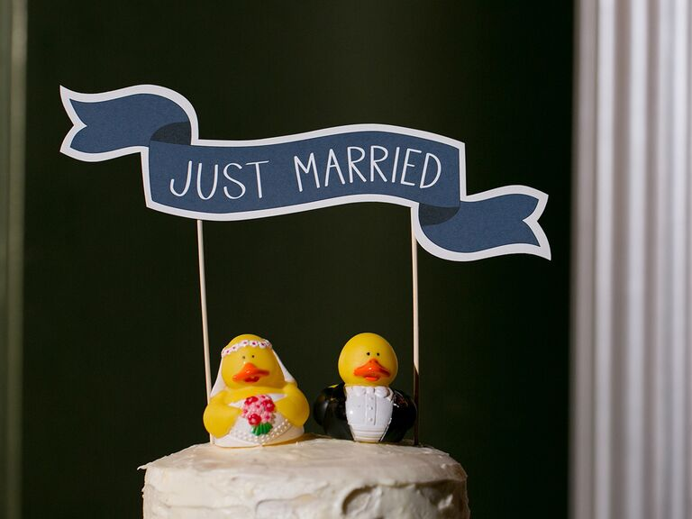 Funny animal wedding cake toppers
