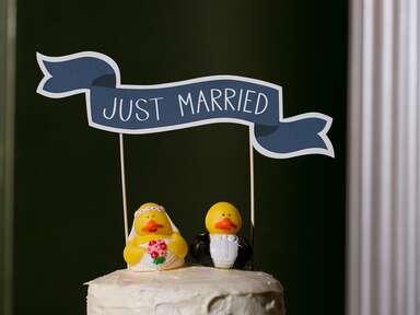 Funny animal wedding cake toppers