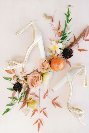 Classic Ivory Heels with Beading