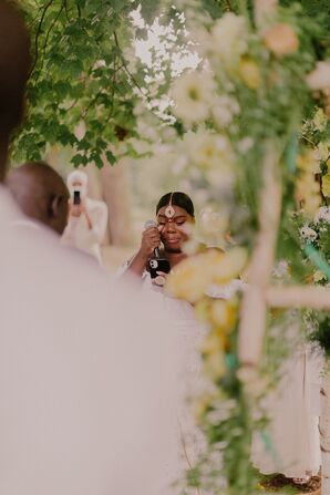 Bride Crying During Vows at Prospect Park in Brooklyn