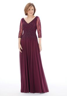MGNY 72202 Gray,Purple Mother Of The Bride Dress