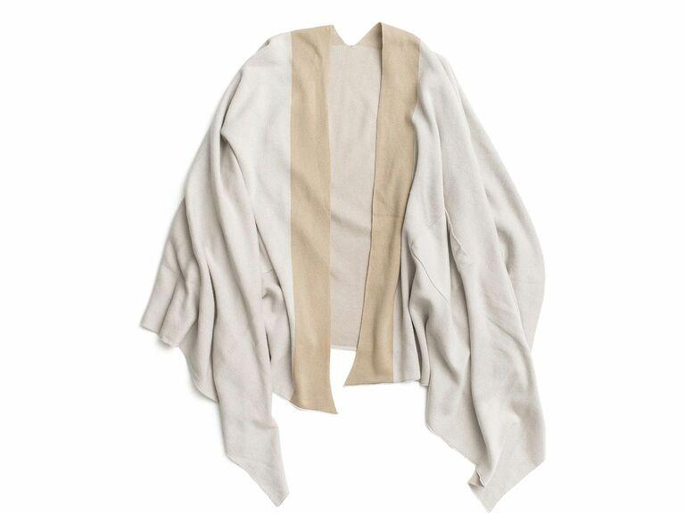 beige cotton travel wrap