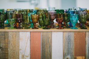 Eclectic Colored Glass Glassware