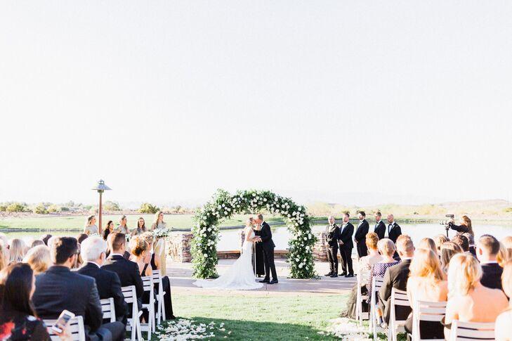 Garden-Inspired Vine and White Floral Wedding Arch