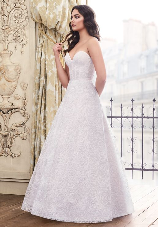 Paloma Blanca 4871 A-Line Wedding Dress