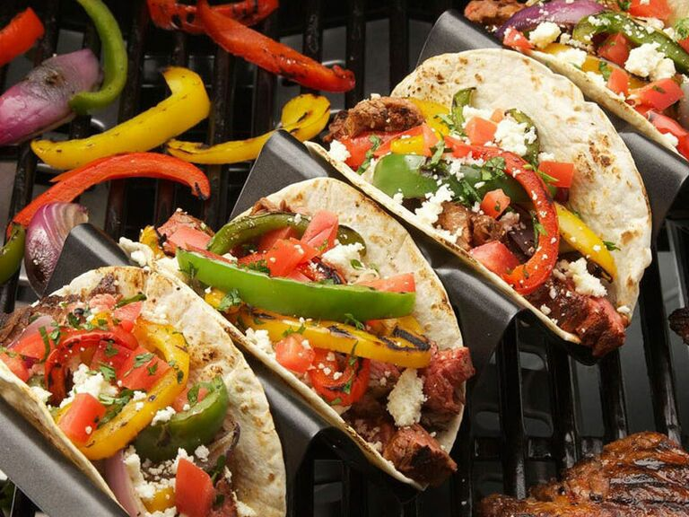 tacos on taco grill rack