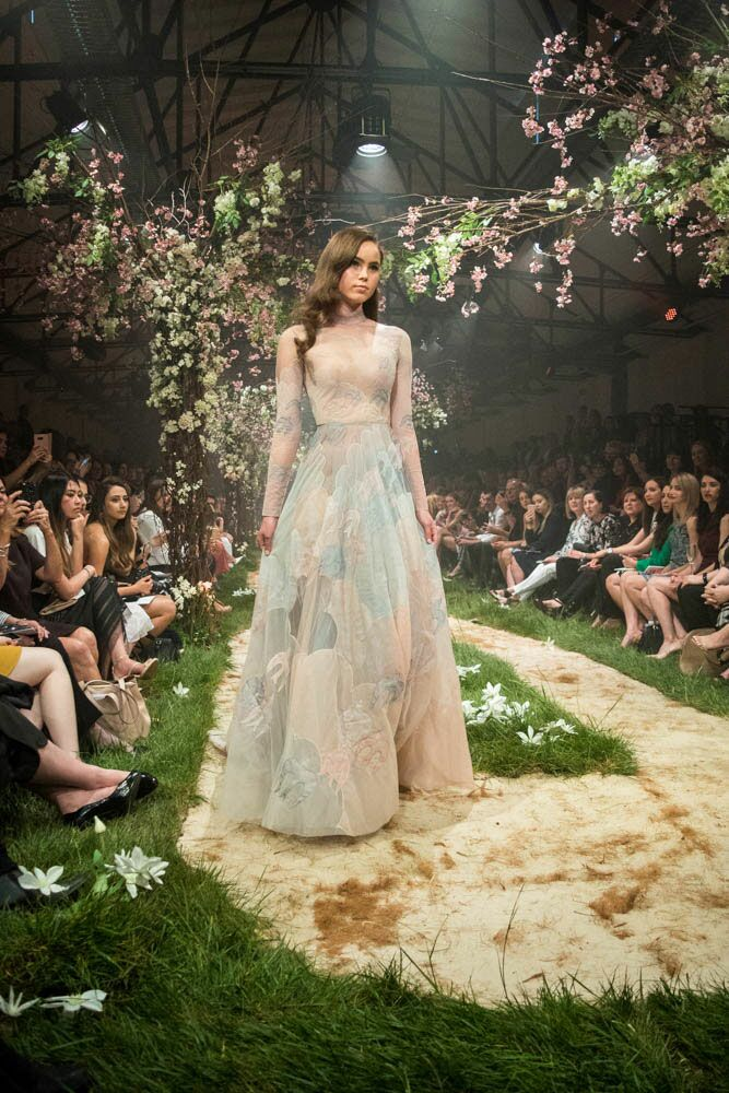 Paolo Sebastian Disney gowns multicolored dress