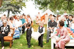 Processional with Classic Ring Bearers and Ring Pillow