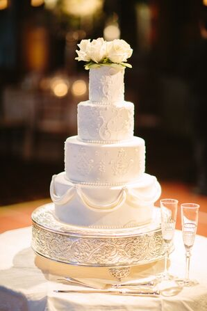 Classic White Wedding Cake With Unusual Flavors