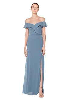 Bill Levkoff 7080 Off the Shoulder Bridesmaid Dress