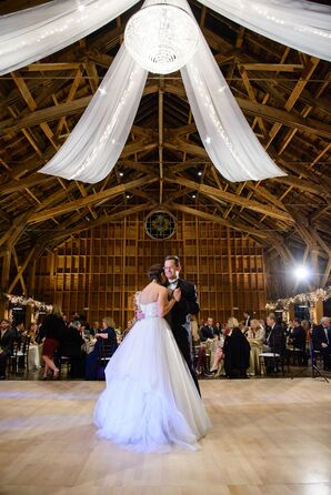 White Linen Draped Wedding at The Fair Barn