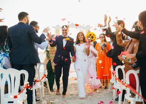 Colorful Beach Wedding, Recessional
