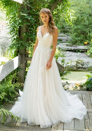 Lillian West 66025 A-Line Wedding Dress