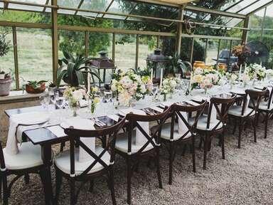 Wedding rehearsal dinner table