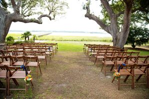 Summer Outdoor Ceremony at Lowndes Grove Plantation