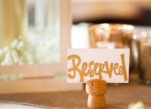 DIY Cork Escort Card Holder