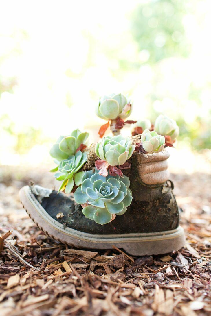 Old Shoe Floral Decor