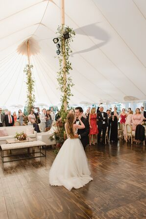 First Dance on Tented Dance Floor