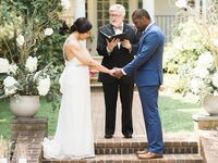Couple renewing their vows