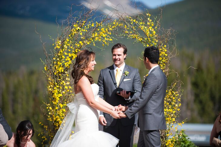 Jessica and Phil Outdoor Ceremony in Colorado
