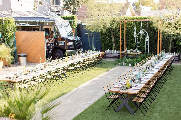 Intimate Backyard Reception at The Ruby Street in Los Angeles, California