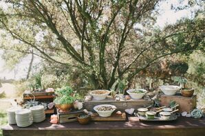 Rustic, Elegant Outdoor Reception, Food
