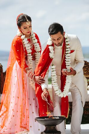 Bride and Groom During Traditional Indian Ceremony