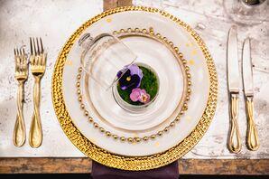 White and Gold Dinnerware