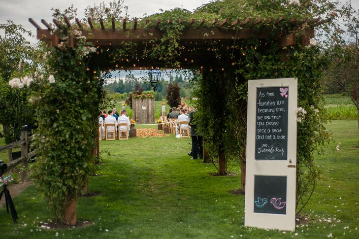 Ivy Covered Archway Leading to Ceremony