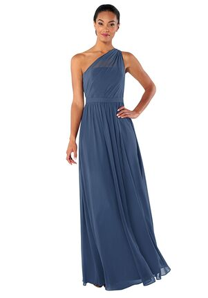 Brideside Brideside Tina in Lagoon One Shoulder Bridesmaid Dress