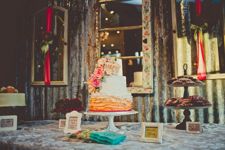 Orange Ombre Wedding Cake