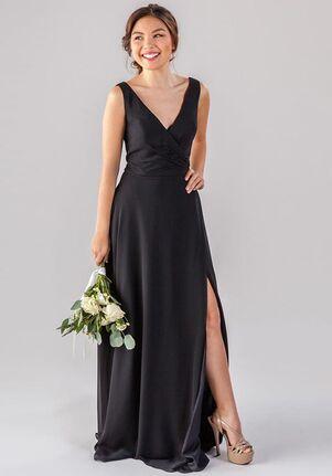 Kennedy Blue Pearl V-Neck Bridesmaid Dress