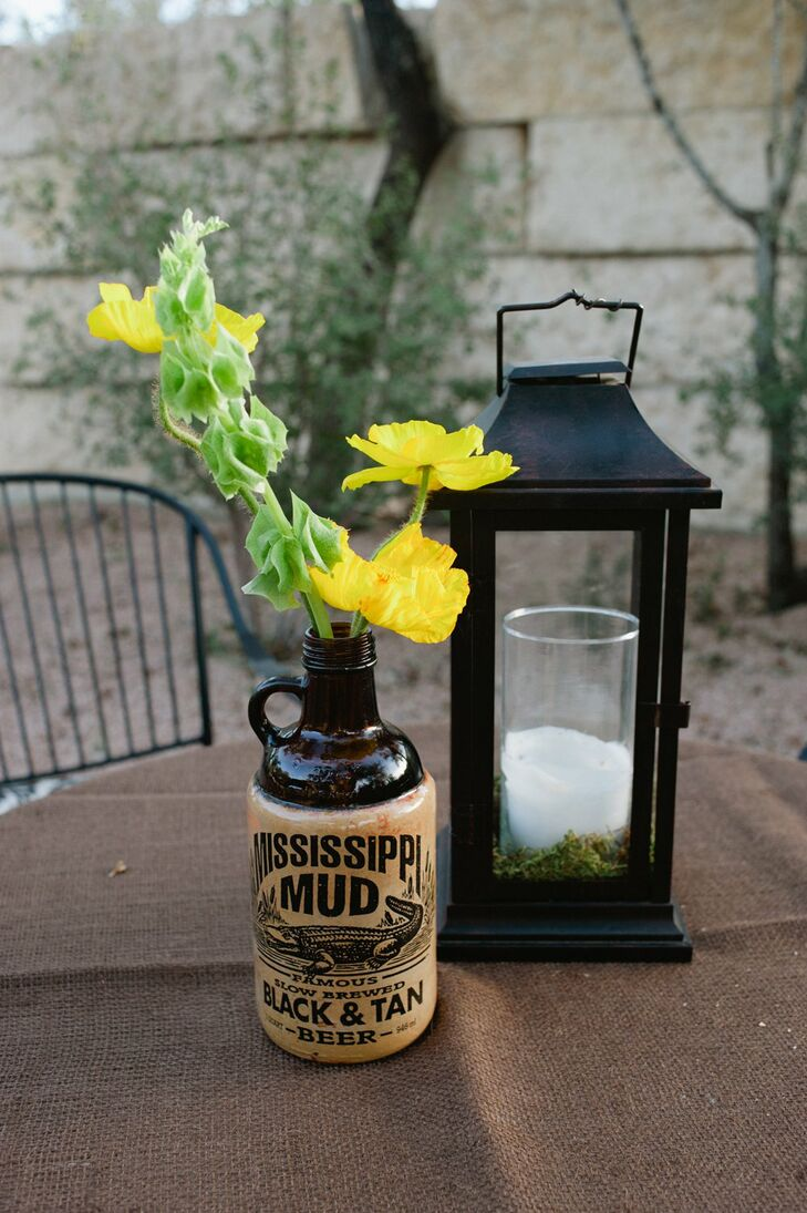 Glass Bottle and Lantern Decor