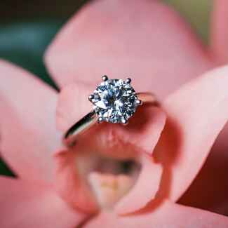 Solitaire Round Diamond Engagement Ring
