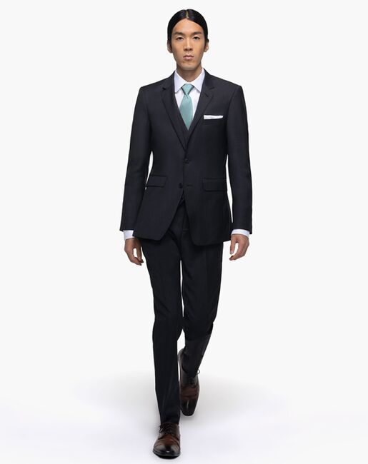 Generation Tux Charcoal Notch Lapel Suit Gray Tuxedo
