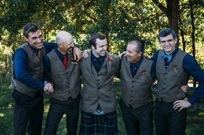 Tweed Vest Groomsmen Attire