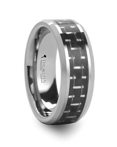 Mens Tungsten Wedding Bands W590-BSCF Tungsten Wedding Ring
