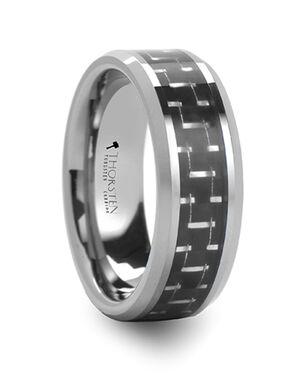 Mens Tungsten Wedding Bands W590-BSCF Tungsten Wedding Ring
