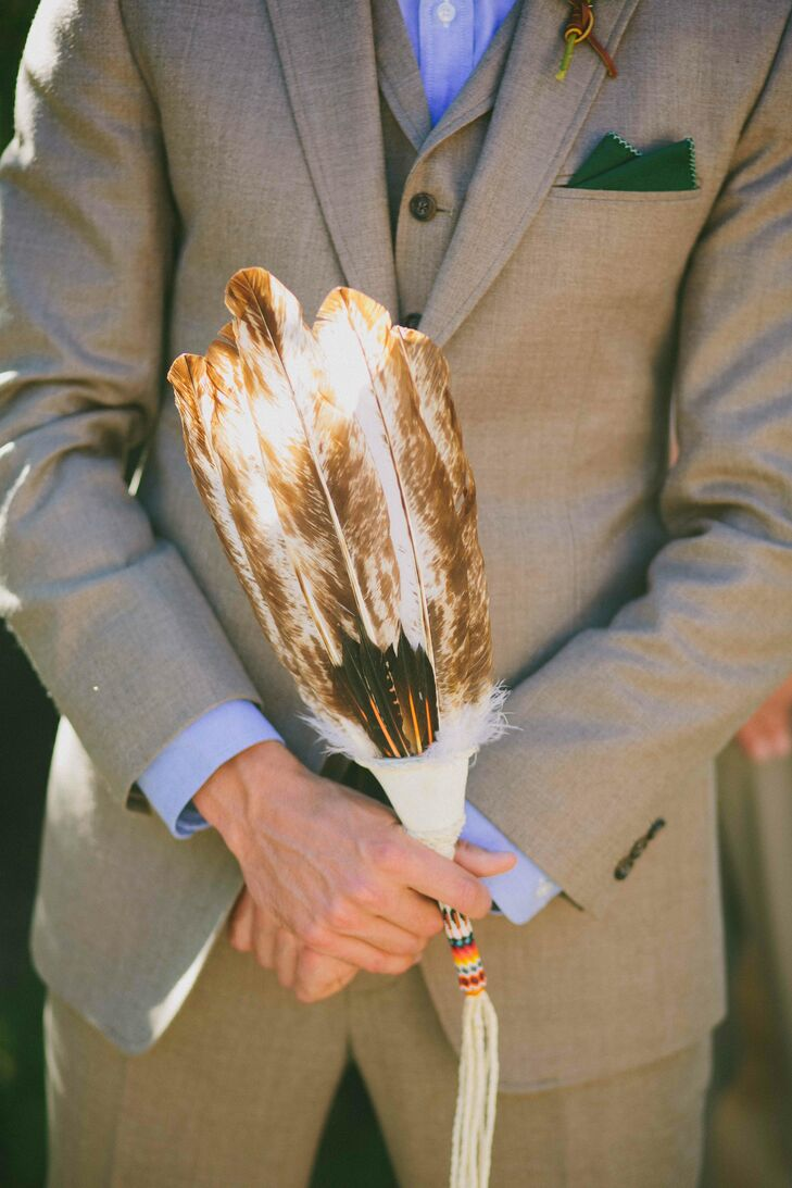 In American Indian culture, spirit feathers are given as a symbol of honoring a person's respect and love and as a sign of gratitude.