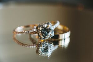 Simple, Delicate Gold Wedding Rings