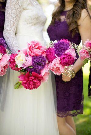 DIY Pink Peony Bouquet