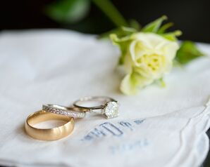 Classic Diamond Eternity and Gold Wedding Bands