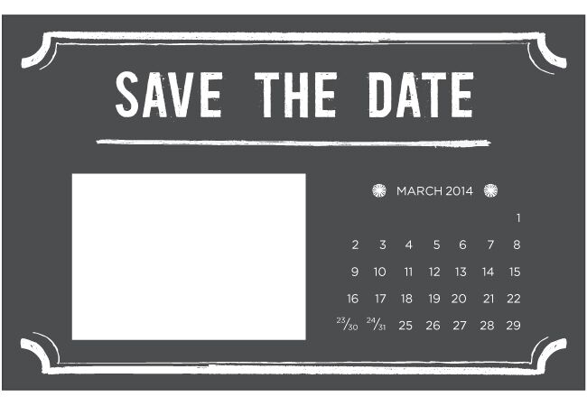 graphic relating to Free Printable Save the Date called 4 Printable Do-it-yourself Help you save-The-Day Templates