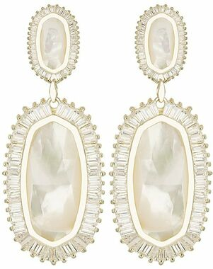 Kendra Scott Kaki Baguette Earrings in Ivory Pearl Wedding Earring photo
