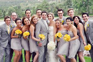 Gray Bridesmaid Dresses