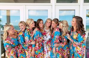 Bridesmaids in Floral Kimonos