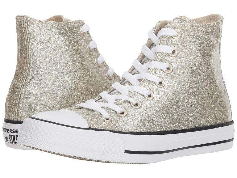 Gold glitter Converse wedding sneakers