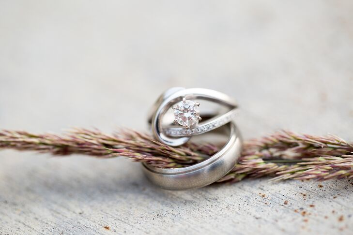 Ryan designed Katelyn's unusual looped, combination engagement and wedding ring at Exclusively Diamonds in Mankato, Minnesota.
